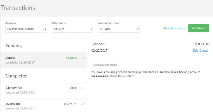How Do I Edit My Recurring Deposit Wealthfront Support